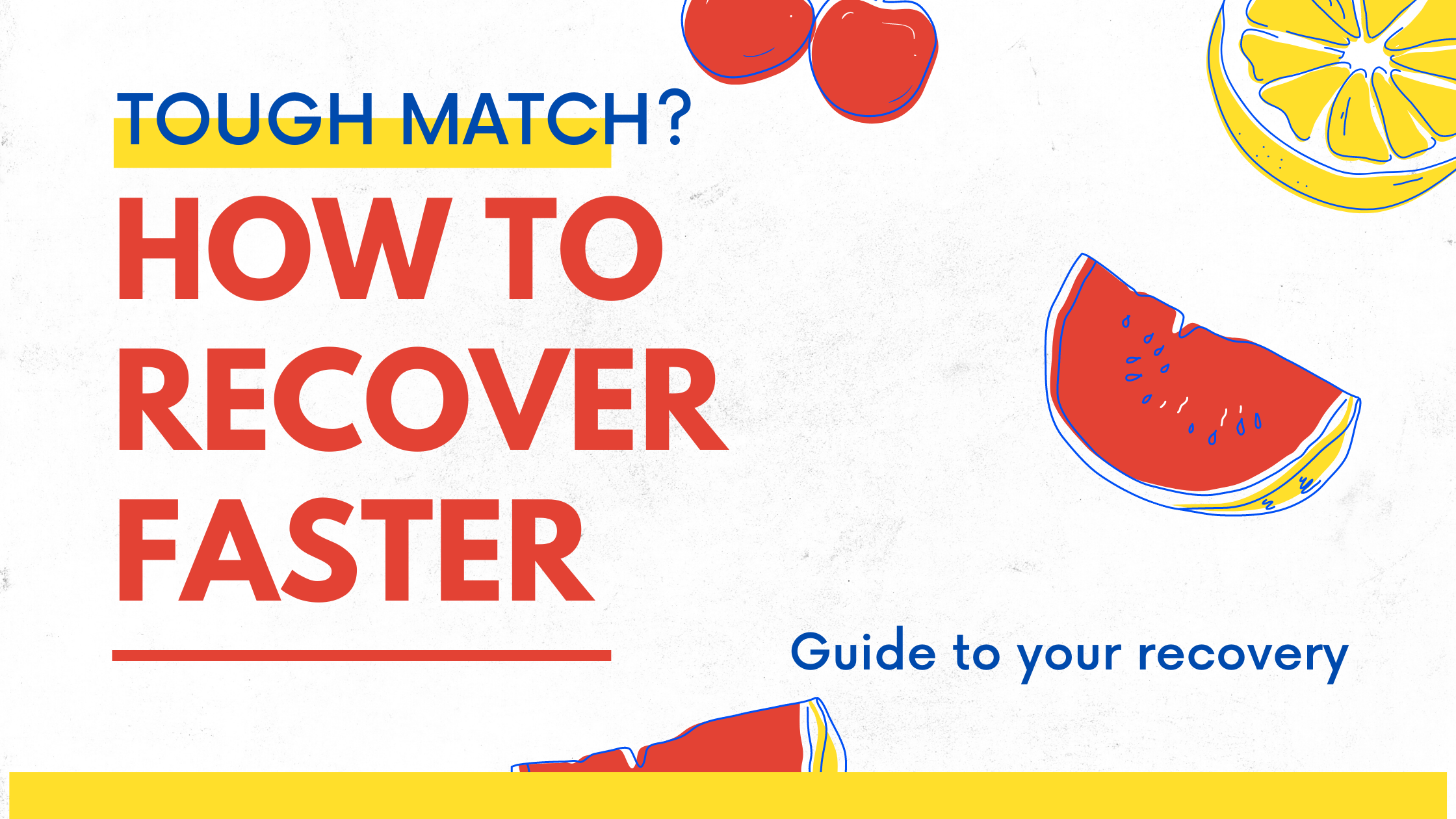 How to recover FASTER from your Tennis Match